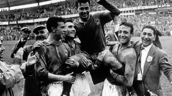 Festa francesa na Copa de 58. FOTO: Getty Images