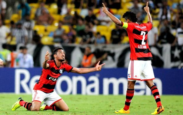 Festa Flamenguista na goleada de 4x0 sobre o Botafogo. FOTO: André Durão