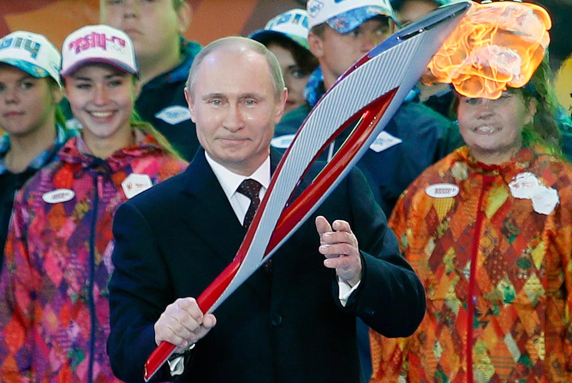 Em meio a crises internacionais, Putin fez do Jogos sua maior máquina de propaganda. FOTO: Getty Images