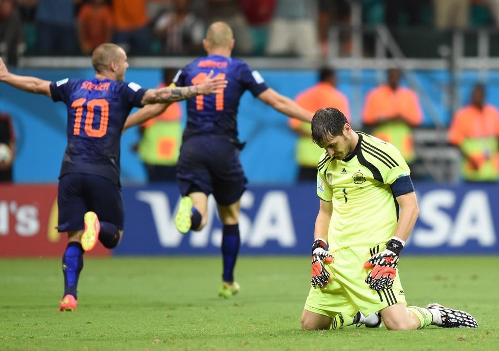 Massacre holandês contra os atuais campeões mundiais. FOTO: FIFA