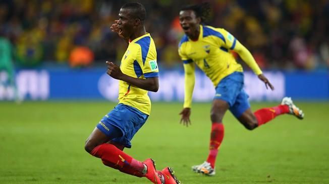 O Valencia menos famoso do Equador já é o artilheiro da Copa. FOTO: FIFA