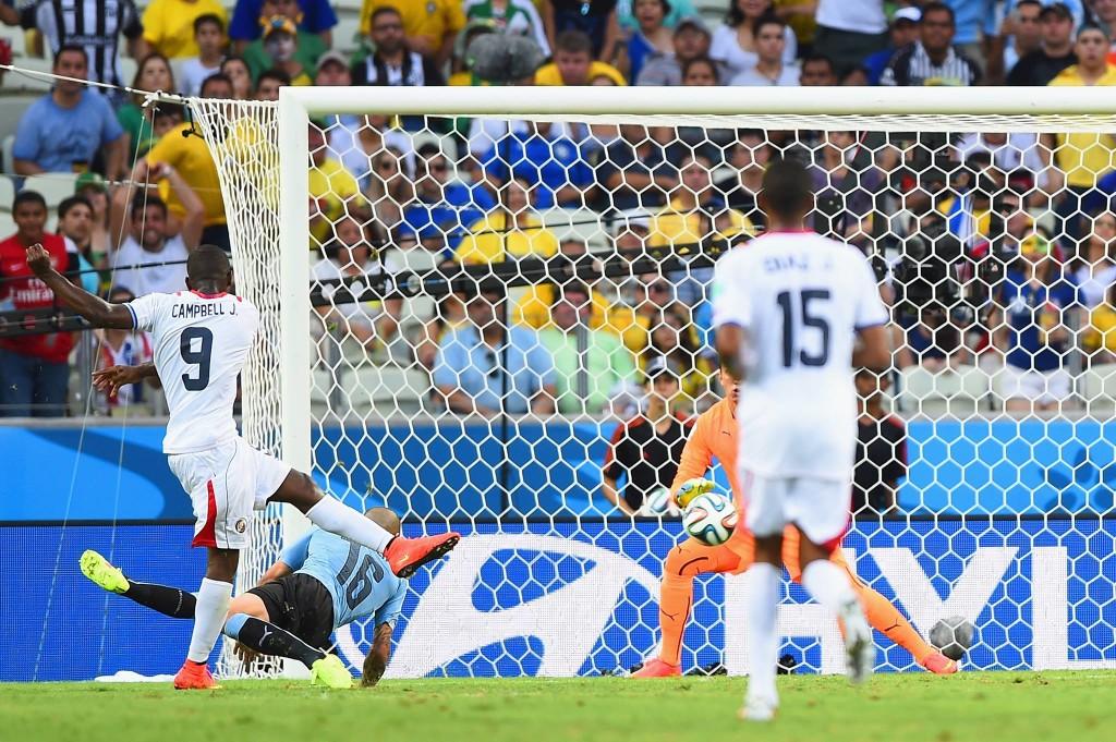 Zebra no Castelão: Campbell comanda vitória da Costa Rica. FOTO: FIFA