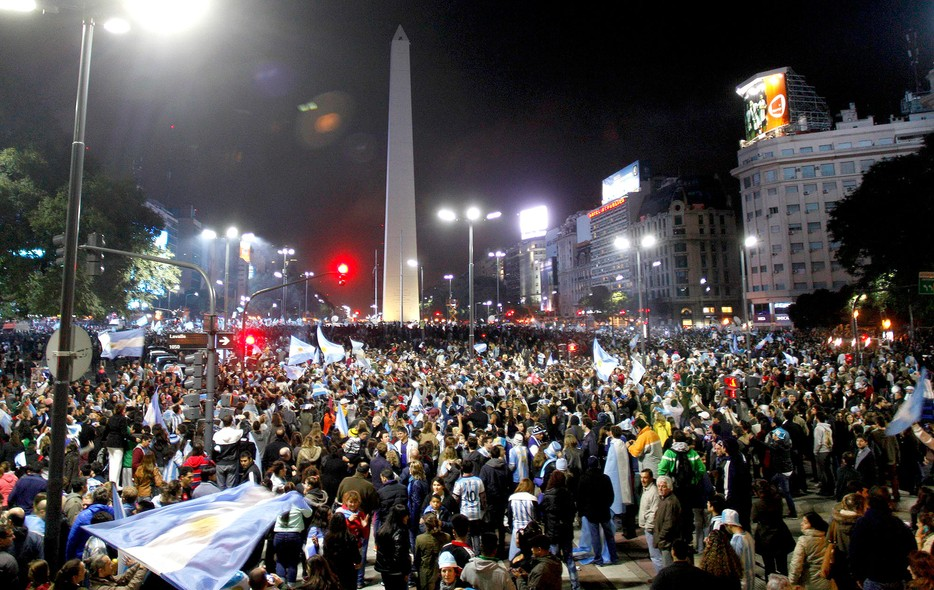 Festa em Buenos Aires. FOTO: Reuters