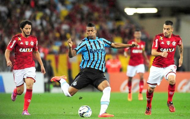 No Maracanã lotado, Grêmio supera o Flamengo no fim do jogo. FOTO: Dhavid Normando / Futura Press