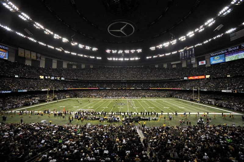 O Superdome de New Orleans foi um dos precursores do formato dome. FOTO: NFL