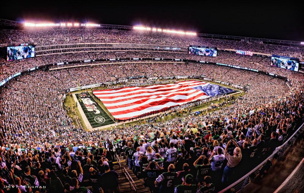 O moderno MetLife Stadium, em New York, sem cobertura. FOTO: NFL