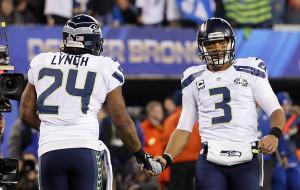Russell Wilson e Marshawn Lynch são peças chave dos Seahawks