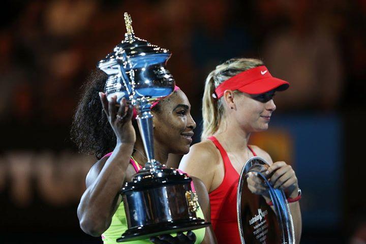 Serena venceu de novo e aumentou a freguesia com Sharapova. FOTO: Australia Open