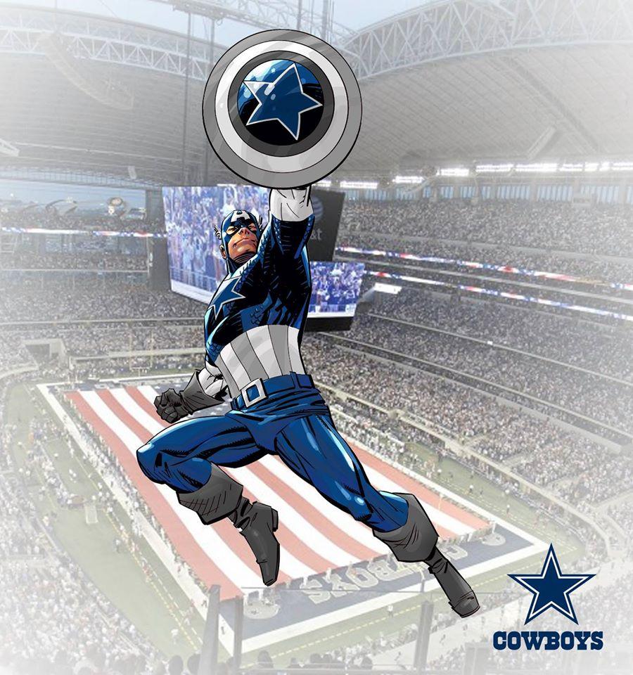 Dallas Cowboys - Capitão América (Marvel)