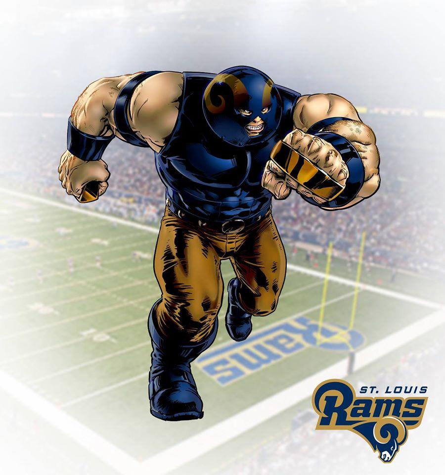 ST. LOUIS RAMS - Fanático/Juggernaut (Marvel)