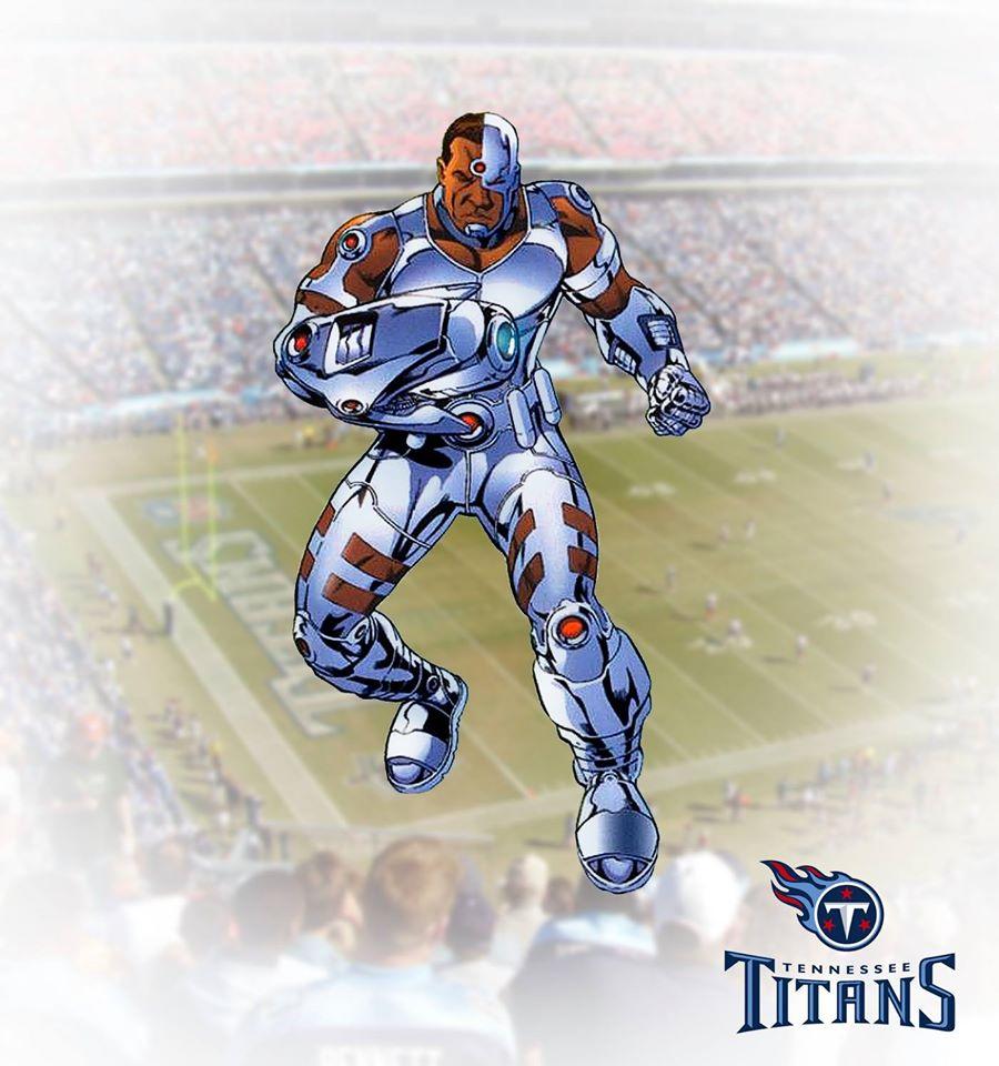 TENNESSEE TITANS - Cyborg (DC Comics)