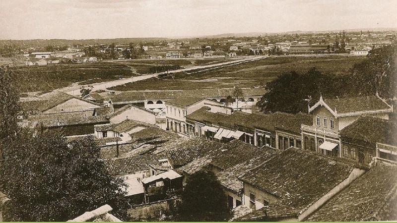 Foto da Várzea do Carmo,  por volta de 1890.