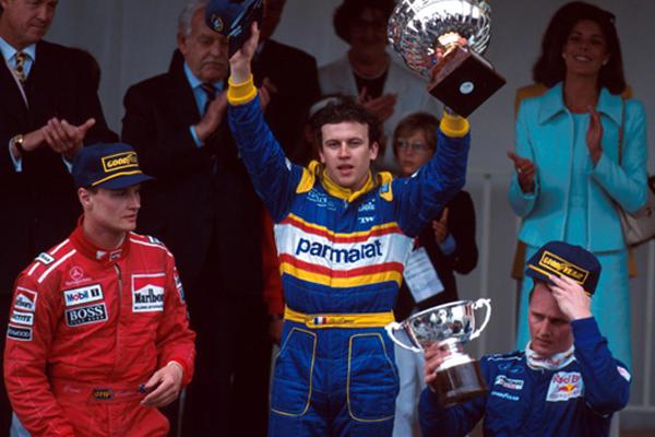 Panis celebra sua única vitória na Fórmula 1. FOTO: www.skysports.com