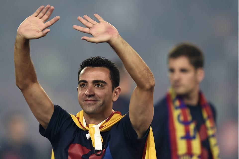 Xavi se despede em grande estilo do Barça. FOTO: UEFA
