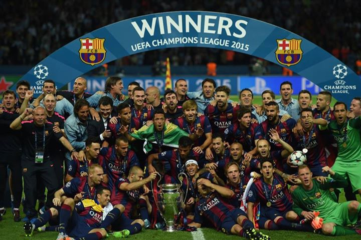 Barcelona fica com a taça pela quinta vez. FOTO: UEFA