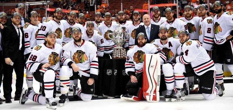 Chicago campeão do Oeste. FOTO: Harry How / Getty Images via Hockey Night Brasil.
