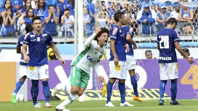 Camilo comemora o gol da vitória no Mineirão. FOTO:  Agência Estado