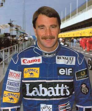 """O """"Leão"""" Nigel Mansell, em 1991. FOTO: madaboutsports.com.au"""