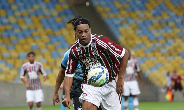 Ronaldinho na estreia pelo Fluminense. FOTO: Custódio Coimbra