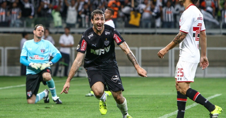 Com três gols, Pratto foi o nome da rodada. FOTO:Bruno Cantini/ Atlético-MG