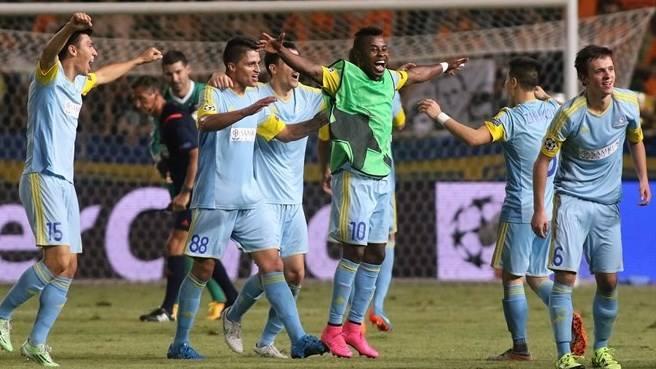 Astana é o primeiro clube do Cazaquistão a disputar a fase final da Champions. FOTO: UEFA