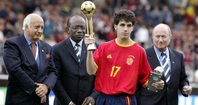 No Sub-17, Fàbregas foi vice, mas considerado o melhor do torneio (Foto: AFP)