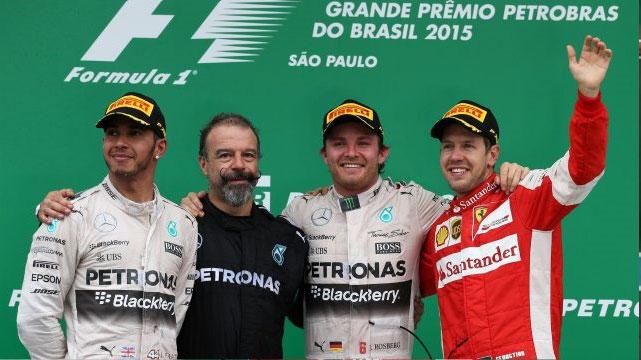 Rosberg venceu no Brasil e confirmou o vice-campeonato do Mundial de Pilotos em 2015. Foto: formula1.com