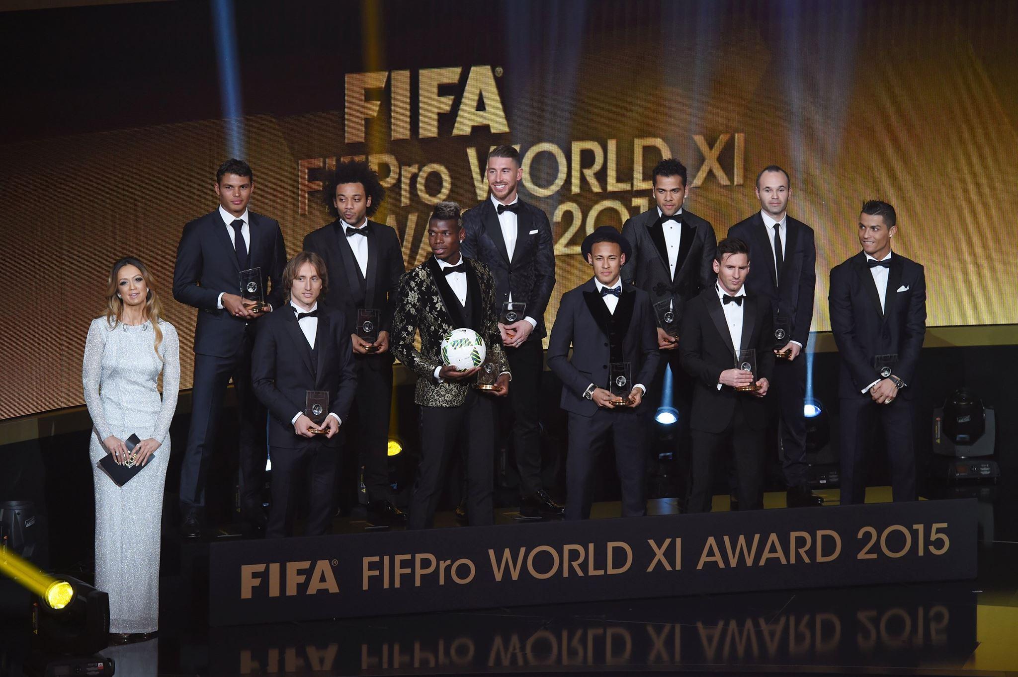 Seleção com os melhores da temporada. FOTO: FIFA