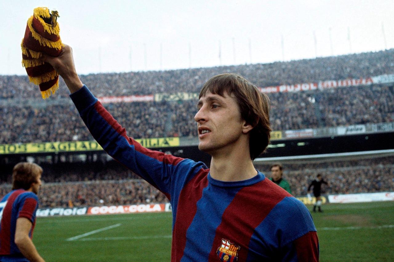 Cruyff em sua passagem revolucionária pelo Camp Nou. FOTO: Acervo