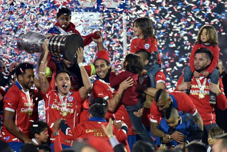 O atual campeão Chile fez a festa em casa. FOTO: Conmebol