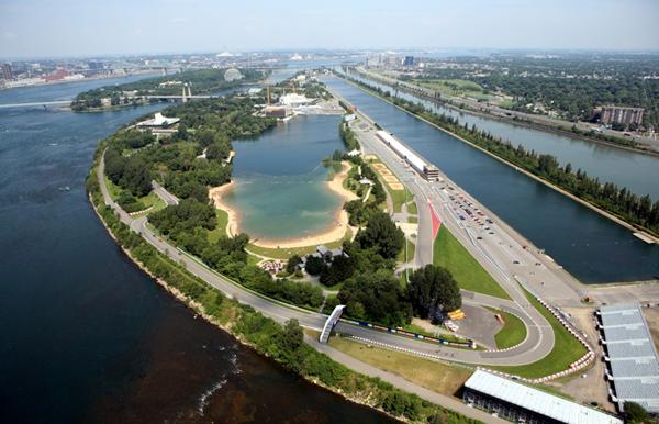 Vista aérea do Circuito Gilles Villeneuve onde se realiza o GP do Canadá desde 1978. FOTO: www.autofocus.ca