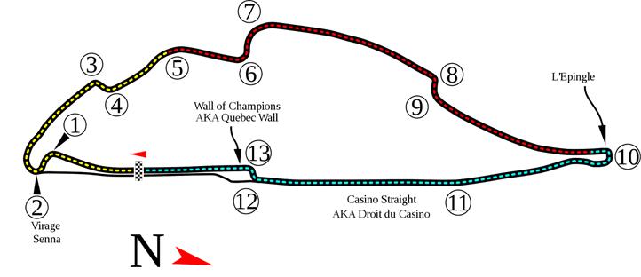 Circuito Gilles Villeneuve onde se realiza o GP do Canadá desde 1978. FOTO: ra-gmr.blogspot.com.br
