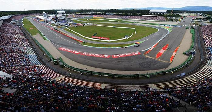 """Detalhe da parte mais conhecida do atual traçado de Hockenheimring, mais conhecido como """"Estádio"""". FOTO: globoesporte.globo.com."""