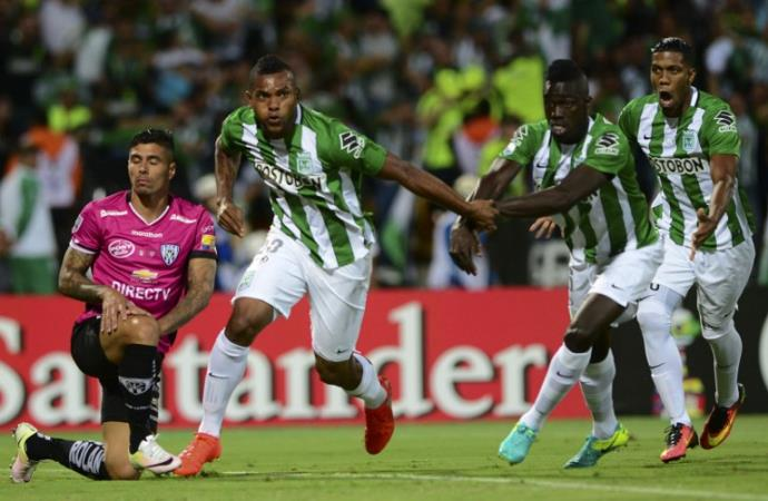 Borja comemora o gol do título. FOTO: Raul Arboleda / AFP / CP