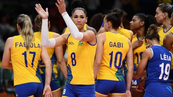 A super favorita seleção brasileira, caiu para a China. FOTO: Rio 2016