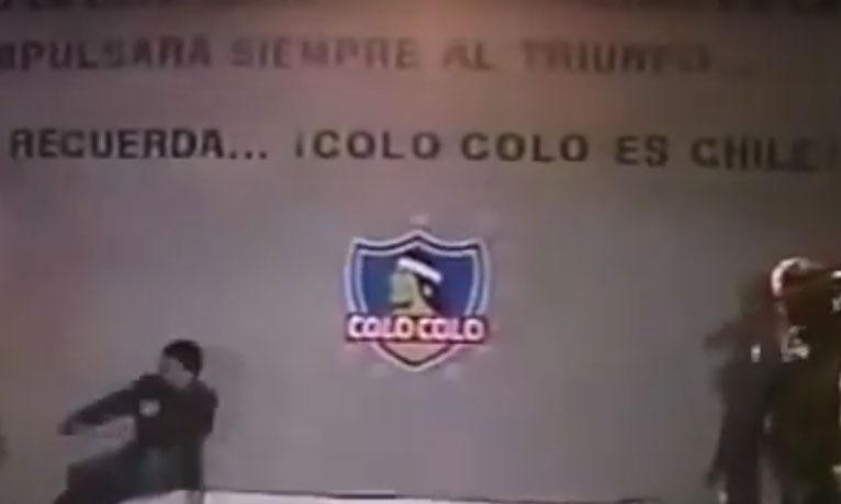 Escrita altamente motivacional do estádio do Colo Colo.
