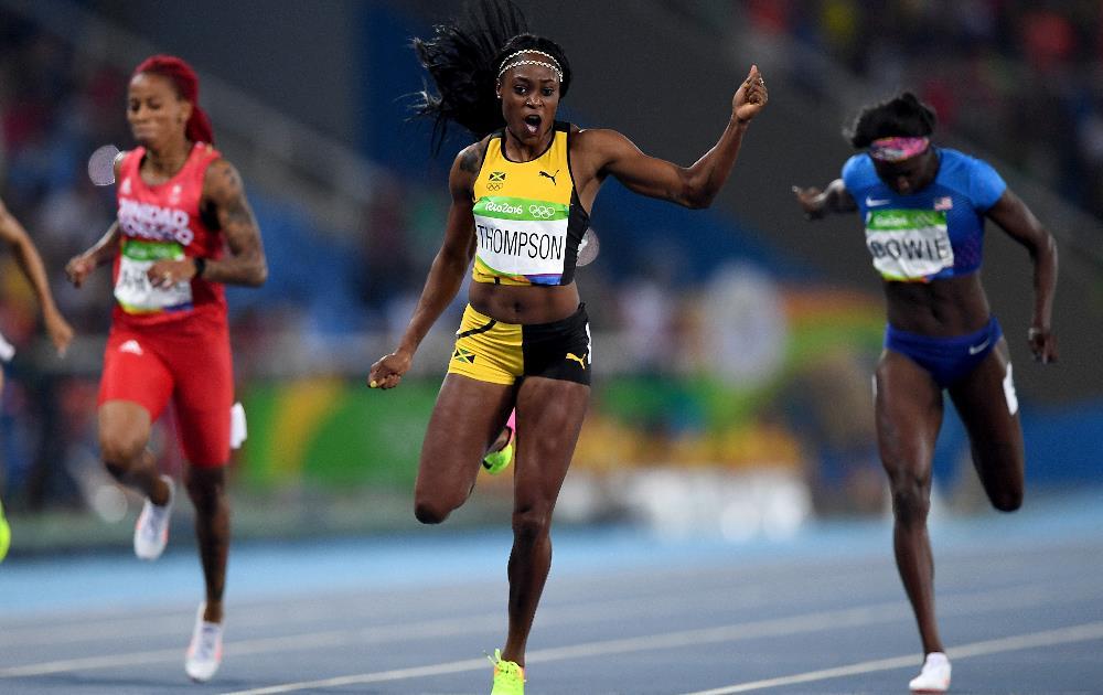 """Elaine Thompson ficou surpresa com sua vitória: """"Estou correndo com uma lesão no tendão"""". FOTO: Getty Images/Shaun Botterill"""