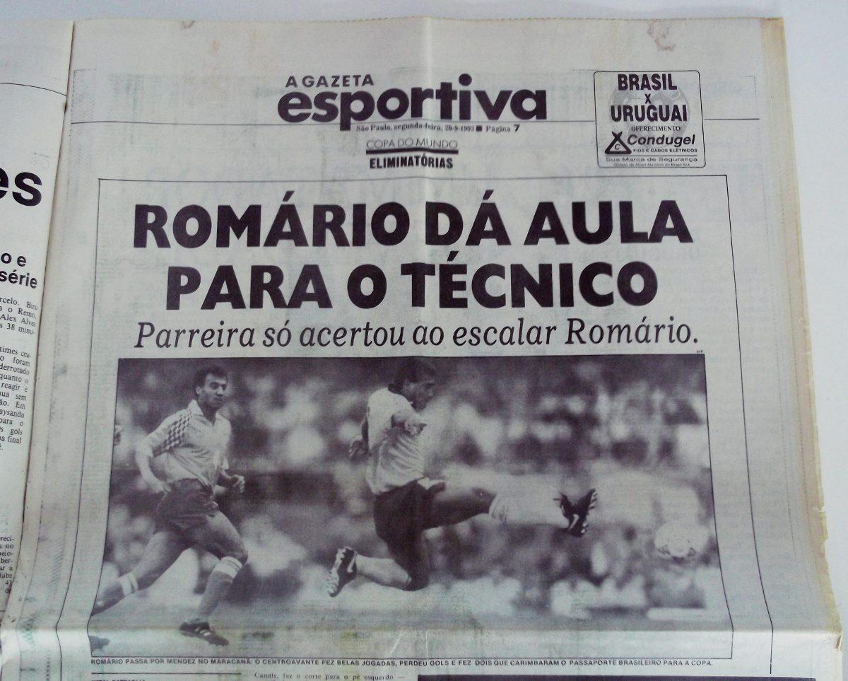 Manchete mais do que direta da Gazeta Esportiva de 93, pós-jogo. FOTO: Arquivo