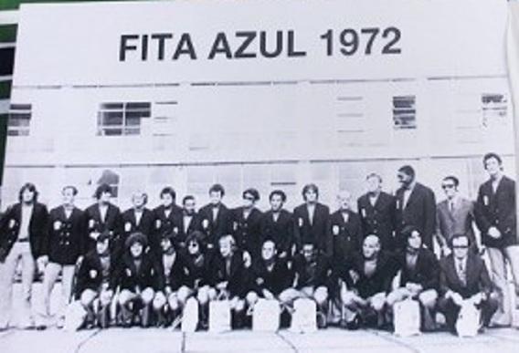 A equipe do Coxa que recebeu a Fita Azul de 72. FOTO: Acervo Dreyer