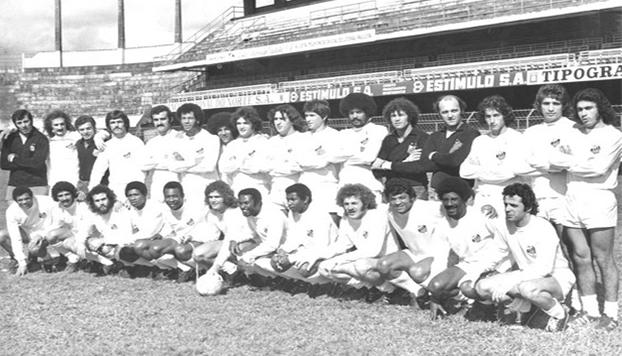 O Santos Fita Azul de 1972. FOTO: Acervo Santos FC