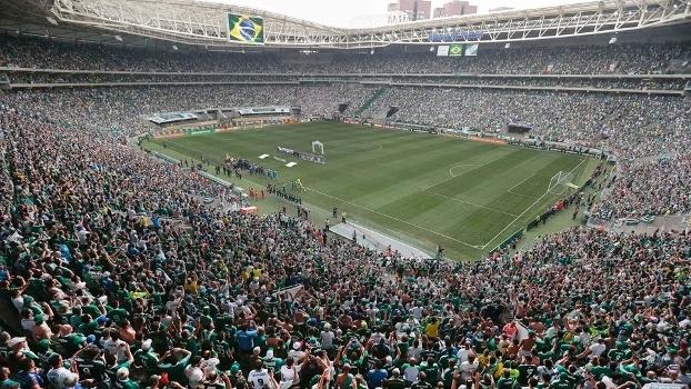 Allianz Parque com o maior público de sua história. FOTO: Gazeta Press