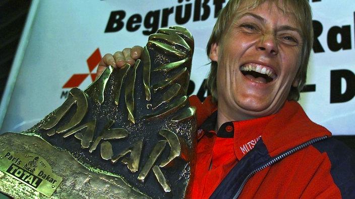 Jutta Kleinschmidt ficou conhecida como Miss Dakar. FOTO: Getty Images