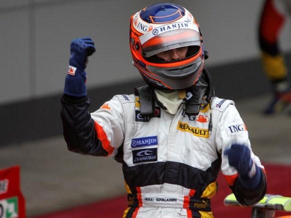 Heikki Kovalainen fez seu primeiro pódio.