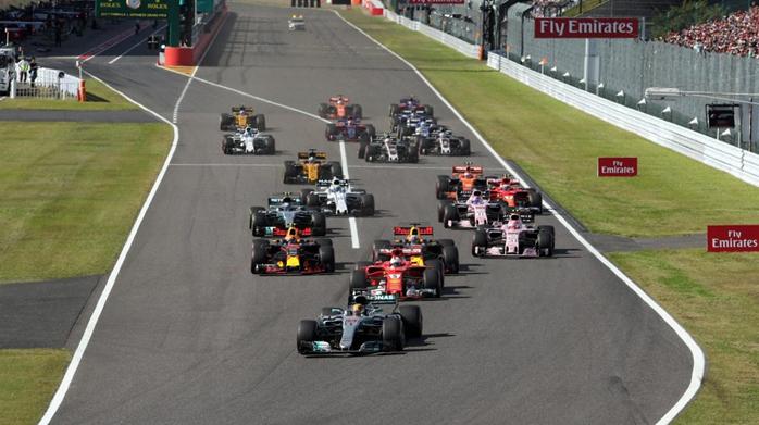Largada do GP do Japão de Fórmula 1.