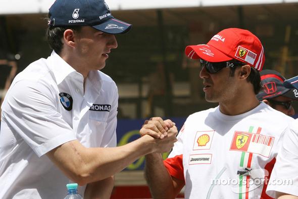 Robert Kubica e Felipe Massa em 2007.