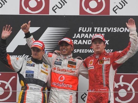 O pódio do GP do Japão de 2007.