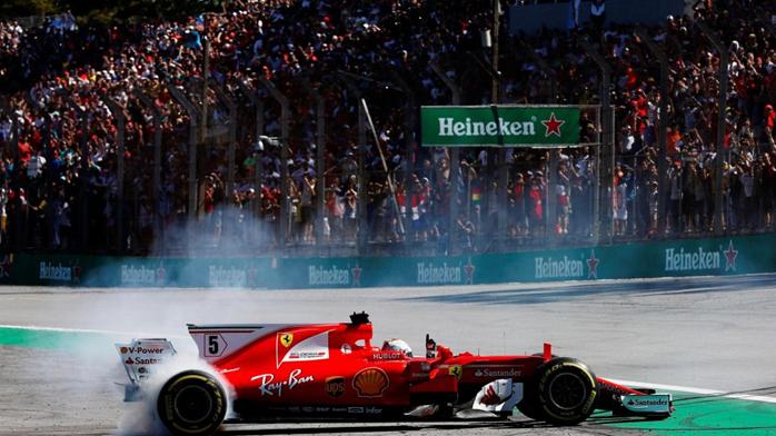 Sebastian Vettel vence o GP do Brasil de 2017.