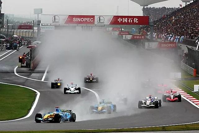 Largada do GP da China de 2006 da Fórmula 1.