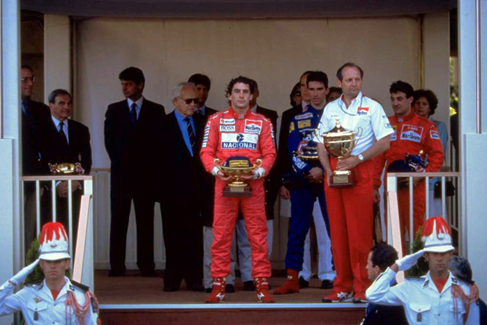 Pódio ao final do GP de Mônaco de 1993.