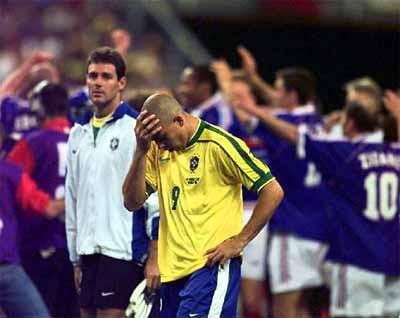 Ronaldo após a atuação pífia na decisão.
